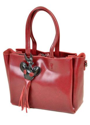 Кожаная яркая сумка alex rai