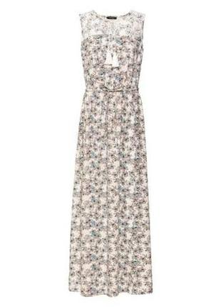 Красивейшее длинное платье сарафан в пол esmara хs 32 -34 р