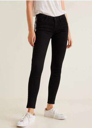 Шикарные черные джинсы mango пуш-ап, евр. 34, 36