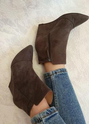 Короткие ботинки от zara