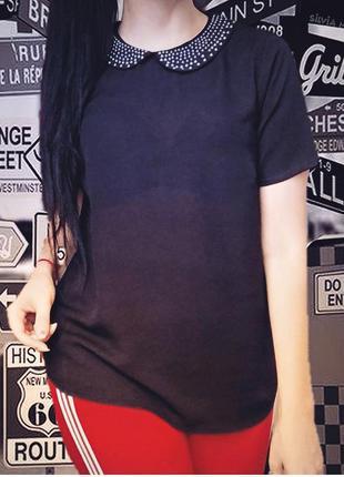Шифоновая прозрачная лёгкая женская блузка  от фирмы forever
