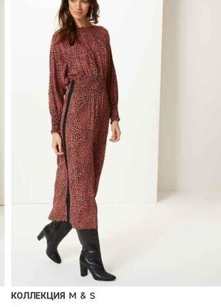 Красивое стильное вискозное платье миди с кармашками,с длинным...