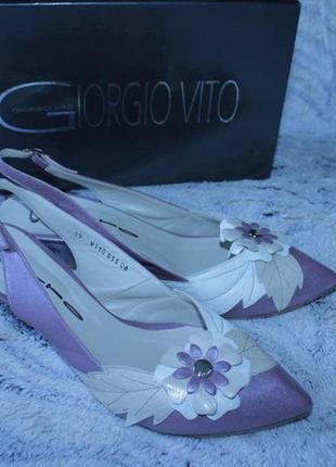 Безумно красивые нежные туфли-босоножки итальянского бренда gi...