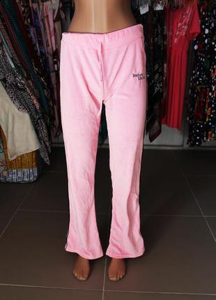 Мягусенькие велюровые спортивные (домашние) штаны нежно-розово...