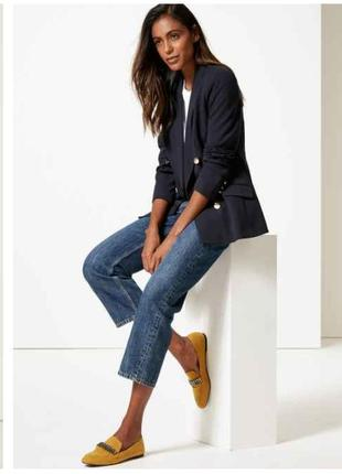 Стильный базовый трендовый двубортный жакет пиджак
