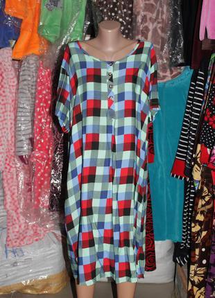 Летнее платье-рубашка туника