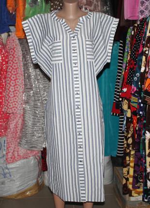 Турция платье рубашка полоска на пуговицах
