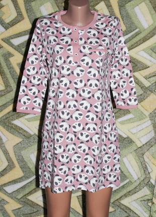 Турция женская ночнушка футболка домашнее платье панда