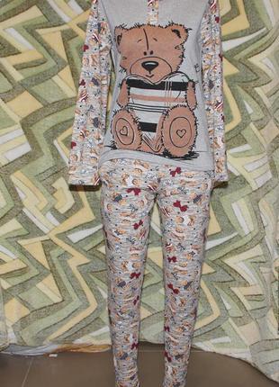 Женский домашний костюм пижама мишка