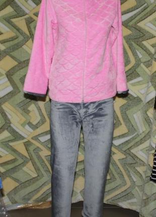 Детский домашний махровый костюм на молнии