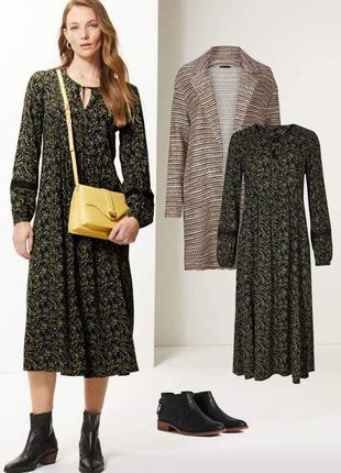 Платье миди из вискозы в бохо стиле