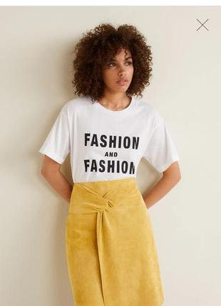 Модная футболка свободный фасон размер с mango