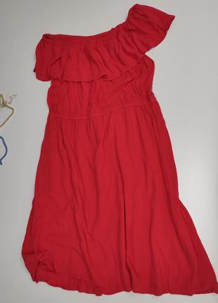 Летнее коралловое платье lindex размер 60