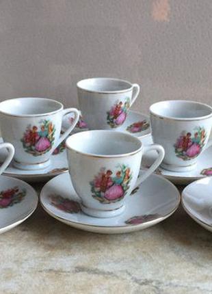 Новый кофейный сервиз на 6 персон производство Китай конец 70 г.