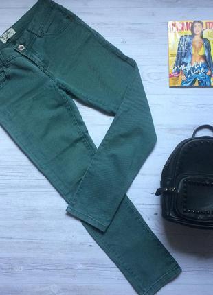 Темно-зеленые джинсы miss denim