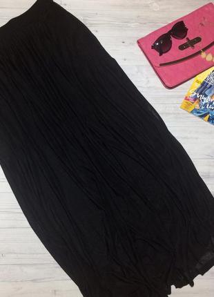 Чёрная юбка в пол h&m
