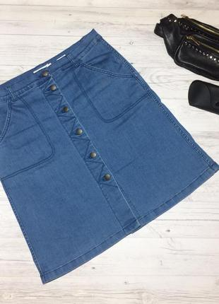 Джинсовая юбка с пуговицами jackpot