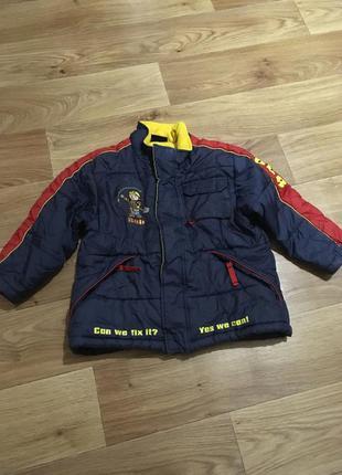 Теплая зимняя куртка ladybird на мальчика 4-5 лет без дефектов