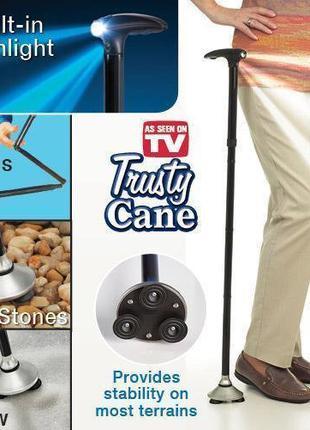 Складная трость с подсветкой для ходьбы Trusty Cane