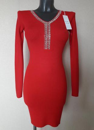 Супер качество!эффектное,обаятельное,облегающее платье в микро...