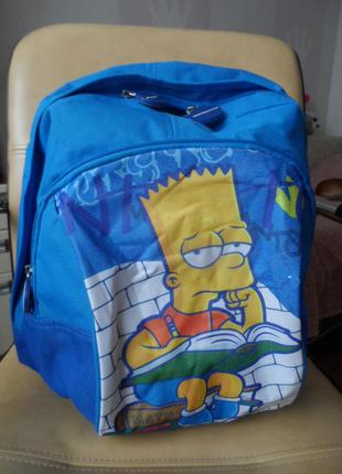 Яркий рюкзак симпсон , очень вместительный