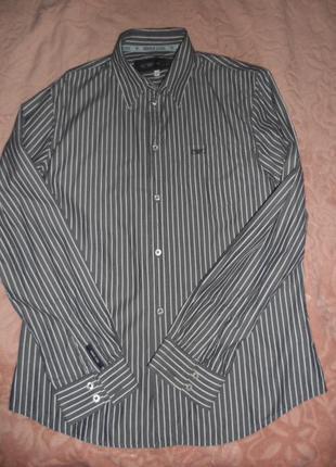 Стильная рубашка armani jeans оригинал ,р. l ,в идеале