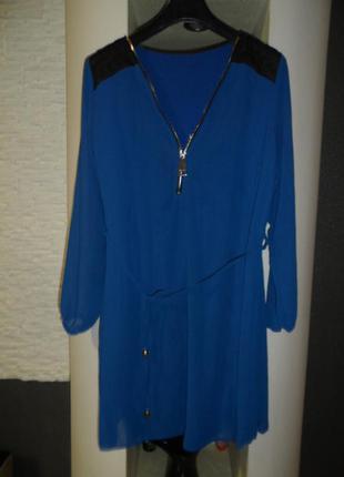 Стильное платье италия ,вискоза,48-50р,в идеале