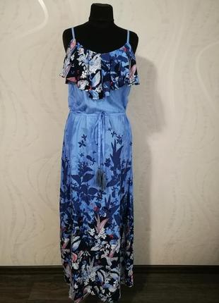 Шикарный длинный вискозный сарафан,платье в пол,макси