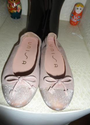 Unisa ,испанские балетки 29р,кожа 100%