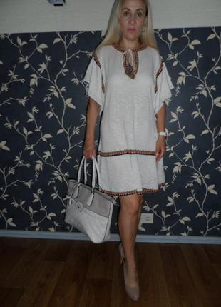 Zara ,стильное платье в стиле этно ,разм. с -м