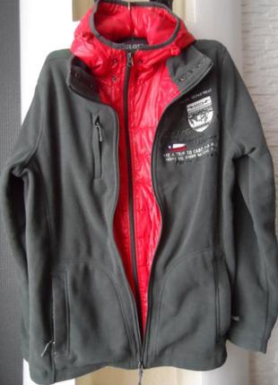 Отличная куртка флизка soccx ,р.xl,50-52,новая