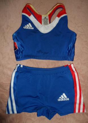 Adidas оригинал,яркий спорт купальник р.8 ,идеал