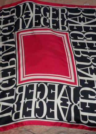 Шикарный платок jaeger ,оригнал,100% шелк,италия.