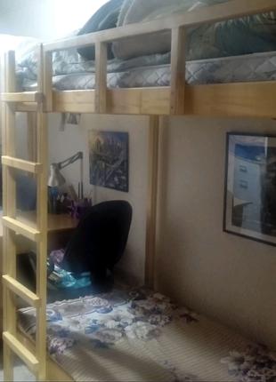 2 ярусная 3 спальная кровать