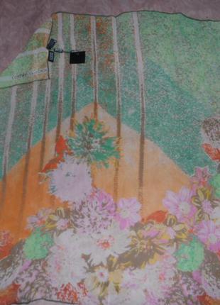 Брендовый легкий платок ,шёлк 100%,enrico coveri италия,новый