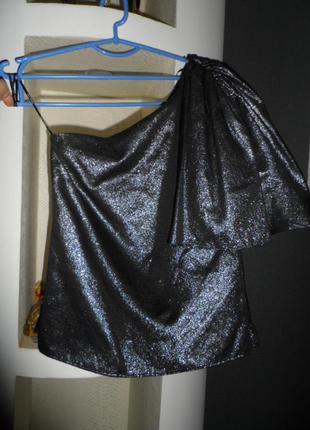Шикарная вечерняя блуза zara р.м,в идеале