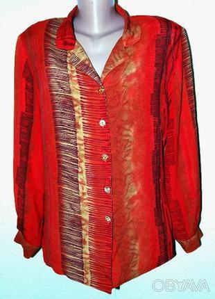 Блузка из натуральной вискозы размер 54. Производство Польша.