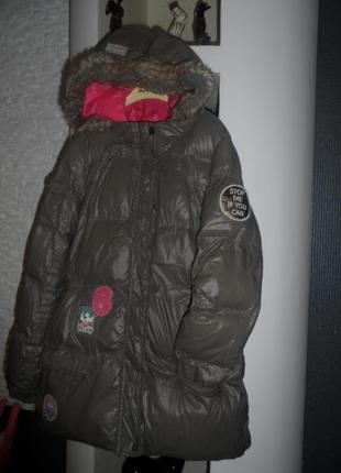 Ikks,стильная, куртка теплая зима,осень на 11-12л