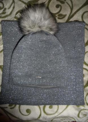 Agbo  ,полушерсть,теплый наборчик ,шапка и снуд