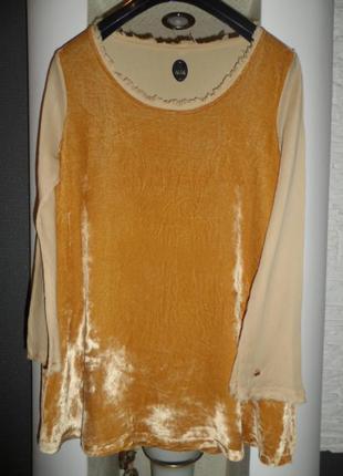 Nalita italy люкс бренд,шикарная блузка,р14,новая,нат.шелк,бархат