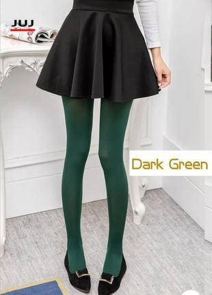 Женские цветные колготки зелёные 80 ден