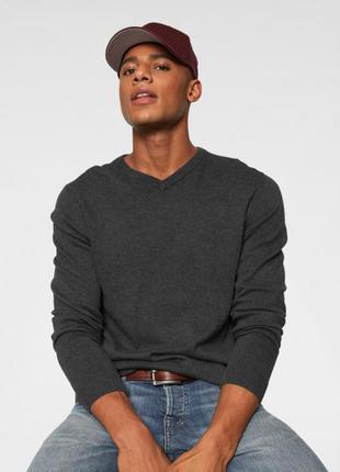 Шерстяной свитер шерсть 100% пуловер джемпер enrico santini