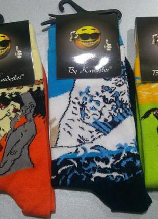 Плотні якісні носки з принтом р 35-41