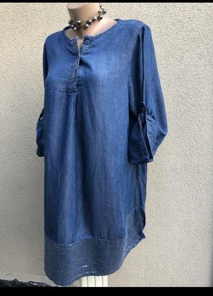 Стильное джинсовое платье рубашка