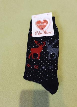 Носки теплые шерстяные новогодние шерсть теплі шерстяні новорічні