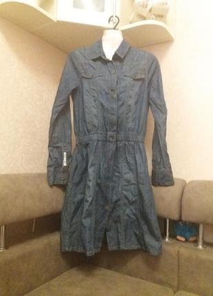 Джинсовое платье-бренд-dept- s\m     #401