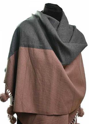 Теплый кашемировый шарф женский платок