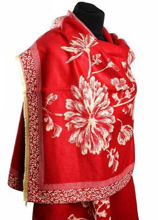 Теплый кашемировий шарф платок женский жіночий