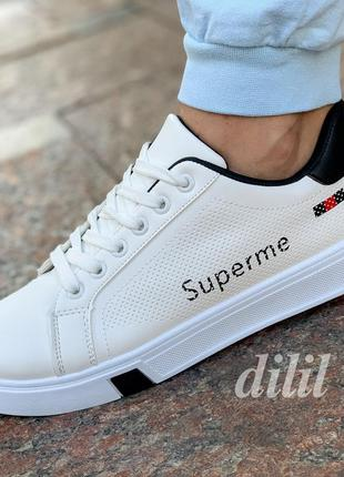 Женские кроссовки кеды белые модные на платформе