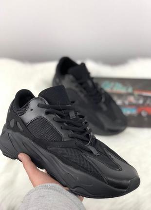Женские adidas yeezy boost 700 black кроссовки адидас изи буст...